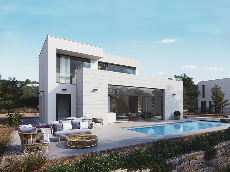 Vivienda lavanda piscina salvador griñan montealegre arquitectos