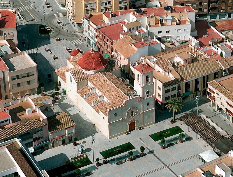iglesia san javier vista aerea restaurada por el arquitecto griñan montealegre