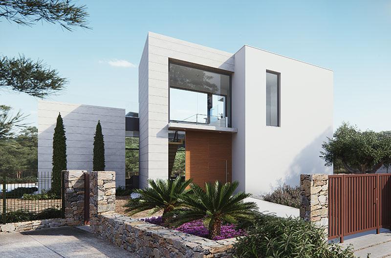Vivienda lavanda entrada sgm arquitecto